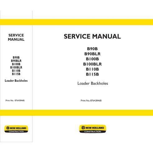 New Holland B90B, B100B, B110B, B115B backhoe loader service manual - New Holland Construction manuals