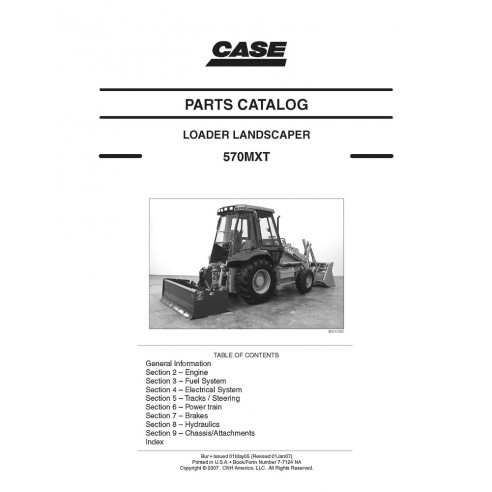 Parts catalog for Case 570MXT loader, PDF-Case