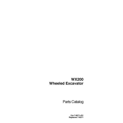 Parts catalog for Case WX200 excavator, PDF-Case