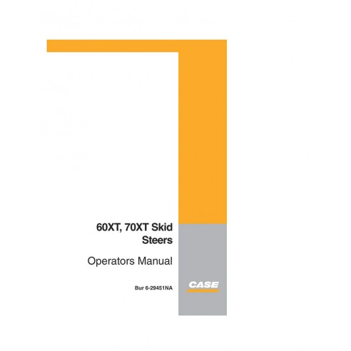 Operator's manual for Case 60XT, 70XT skid loader, PDF-Case