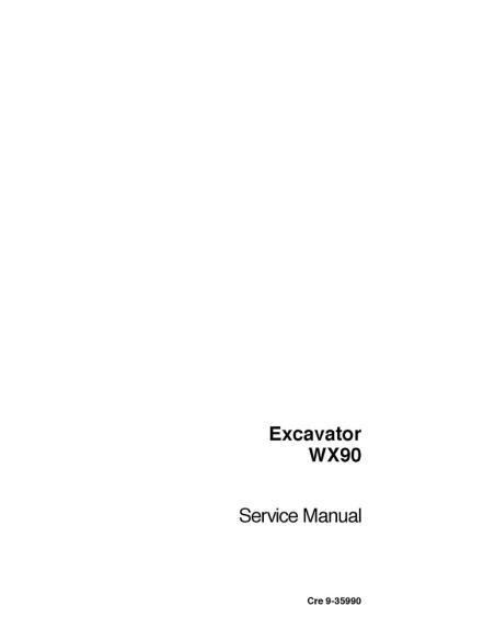 Service manual for Case WX90 excavator, PDF-Case