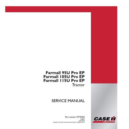 Manual de servicio del tractor Case Ih Farmall 95U, 105U, 115U Pro EP - Case IH manuales