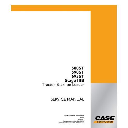 Case 580ST, 590ST, 695ST Stage IIIB backhoe loader service manual - Case manuals