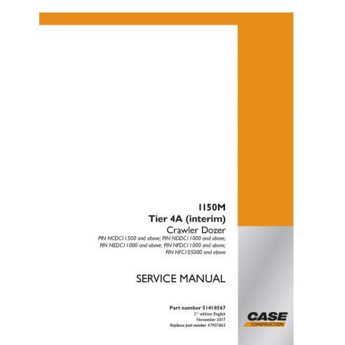 Manual de serviço do buldôzer de esteira Tier4A Case 1150M - Case manuais