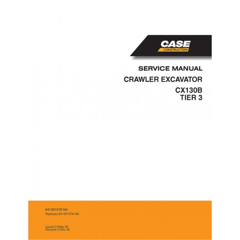 Service manual for Case CX130B Tier 3 excavator, PDF-Case