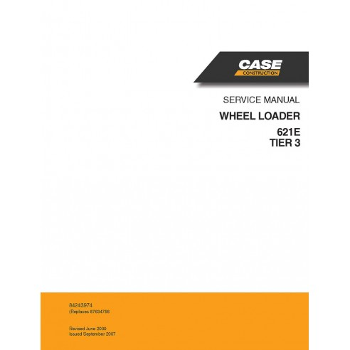 Service manual for Case 621E Tier 3 wheel loader, PDF-Case