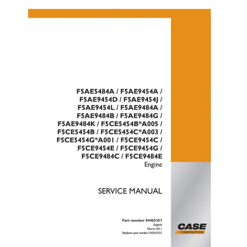 Case F5AE5484A - F5CE9484E engine service manual - Case manuals