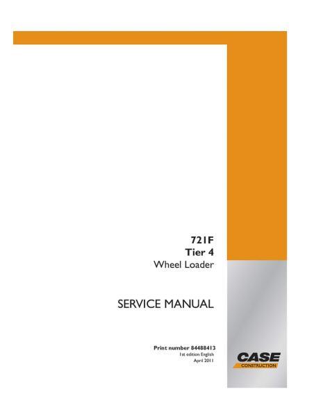 Service manual for Case 721F Tier 4 wheel loader, PDF-Case