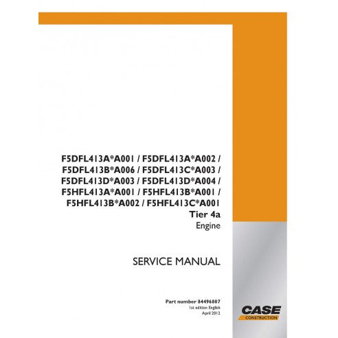 Service manual for Case F5DFL413A - F5hFL413C engine, PDF-Case