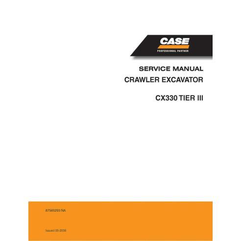 Manuel d'entretien de la pelle Case CX330 Tier 3 - Case manuels