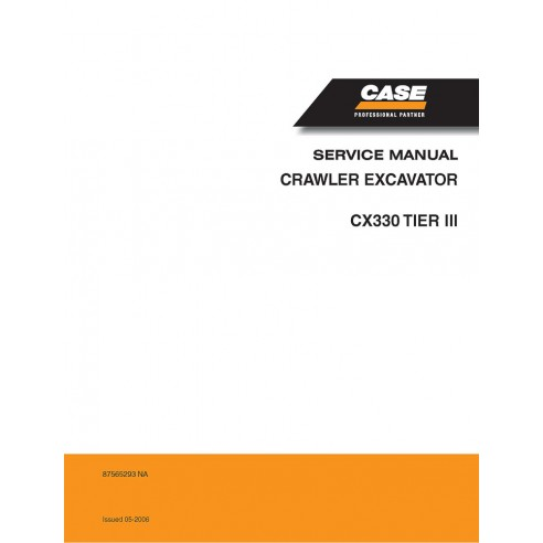 Service manual for Case CX330 Tier 3 excavator, PDF-Case