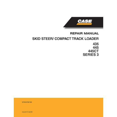 Manual de serviço da carregadeira deslizante Case 435, 445, 445CT Série 3 - Case manuais