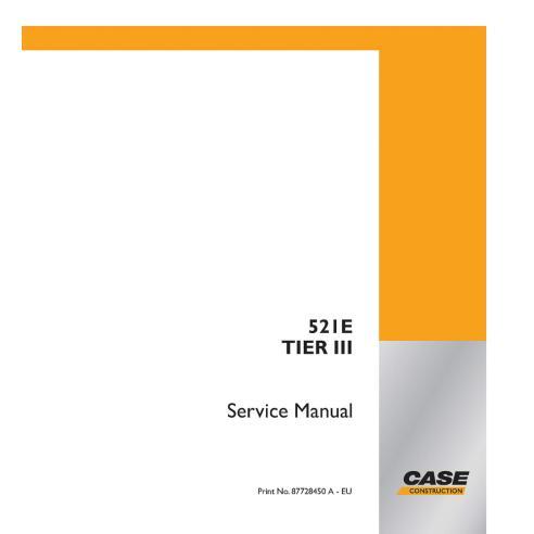 Manual de serviço do carregador Case 521E Tier 3 - Case manuais