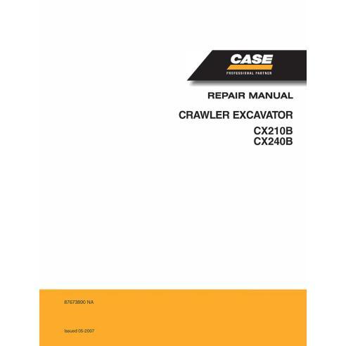 Manual de reparo de escavadeira Case CX210B, CX240B - Case manuais