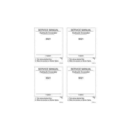 Case 9021 excavator service manual - Case manuals