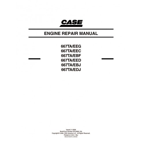 Case 667TA / EEG, EEC, EBF, EED, EBH, EDJ engine service manual - Case manuals