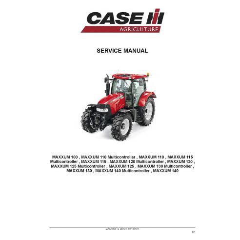 Manual de serviço do trator Case Ih MAXXUM 100-140 - Case IH manuais