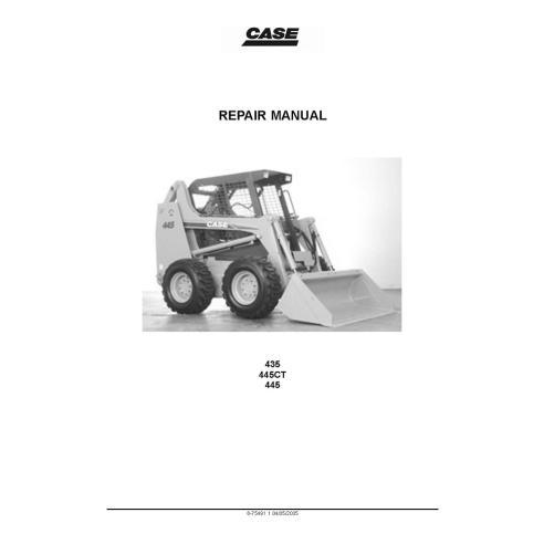 Service manual for Case 435, 445, 445CT skid loader, PDF-Case