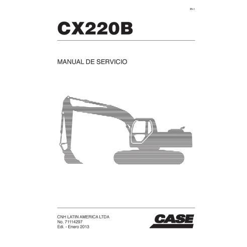 Manual de serviço da escavadeira Case CX220B - Case manuais