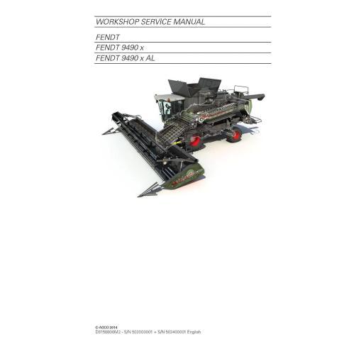 Fendt 9490 combine harvester service manual - Fendt manuals