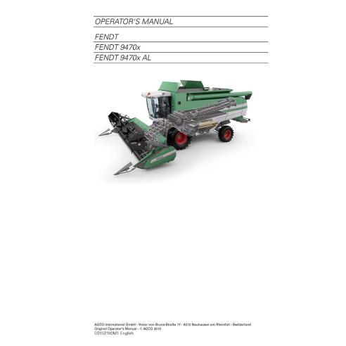 Fendt 8370, 8400 combine harvester operator's manual - Fendt manuals