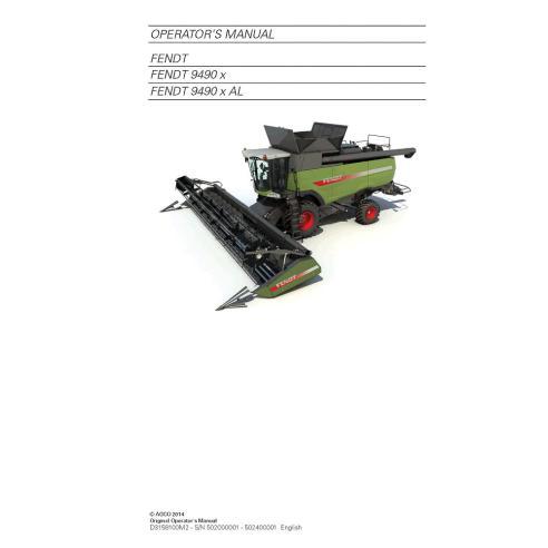 Fendt 9490 combine harvester operator's manual - Fendt manuals