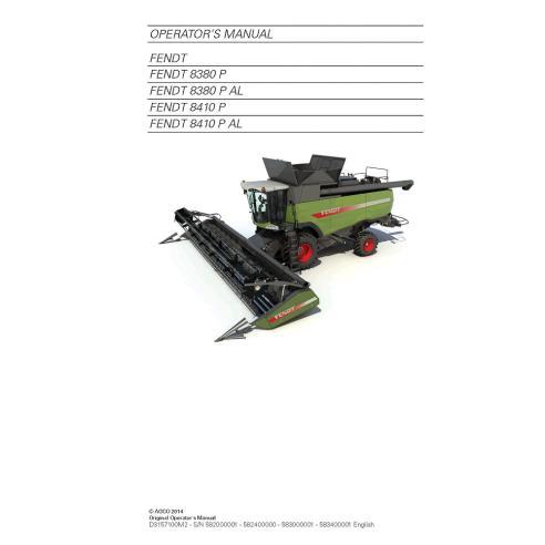 Fendt 8380, 8410 combine harvester operator's manual - Fendt manuals