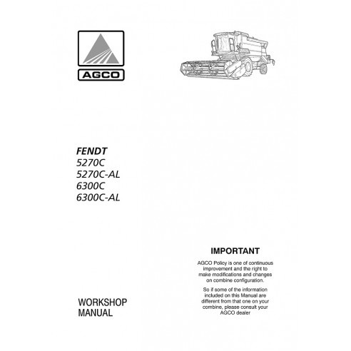 Manuel d'atelier moissonneuse-batteuse Fendt 5270 C, 6300 C - Fendt manuels