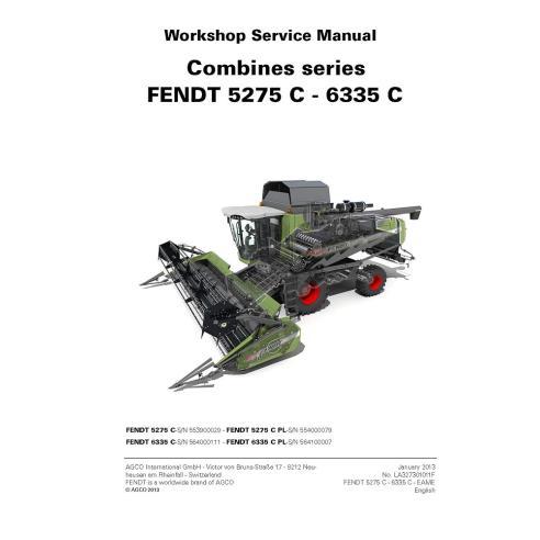 Manual de servicio de la cosechadora Fendt 5275 C, 6335 C - Fendt manuales