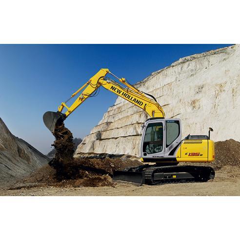 Manual de serviço da escavadeira New Holland E135B - New Holland Construction manuais