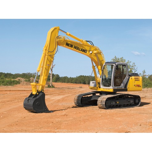 Manual de oficina da escavadeira New Holland E175B, E195B - New Holland Construction manuais