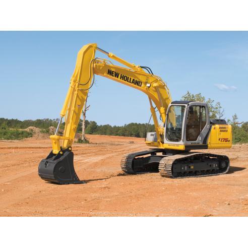Manual de taller de excavadoras New Holland E175B, E195B - Construcción New Holland manuales