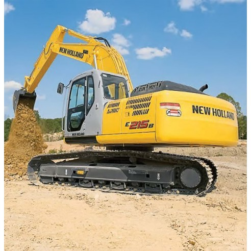 Manual de taller de excavadoras New Holland E215B, E245B - Construcción New Holland manuales