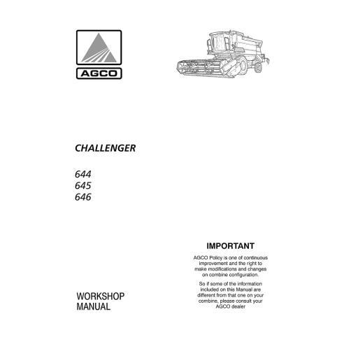 Workshop manual for Challenger 644, 645, 646 combine harvester, PDF-Challenger