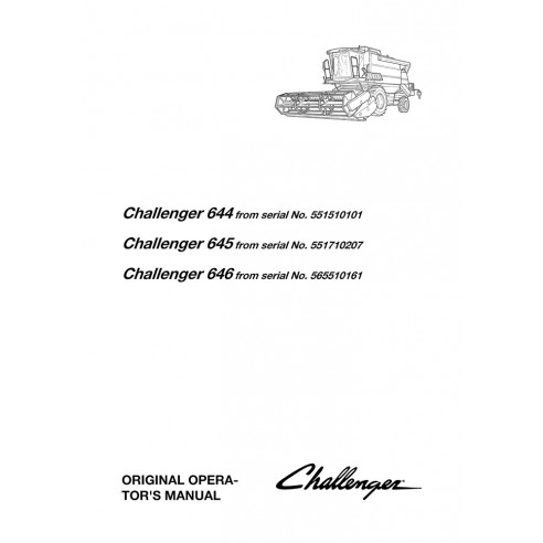 Manuel de l'opérateur de la moissonneuse-batteuse Challenger 644, 645, 646 - Challenger manuels