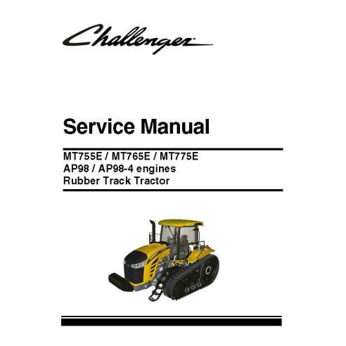 Challenger MT755E, MT765E, MT775E manual de servicio del tractor - Challenger manuales