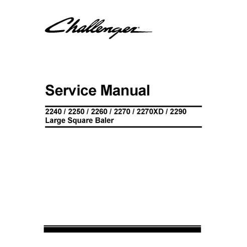Challenger 2240, 2250, 2260, 2270, 2270XD, 2290 manual de servicio de la empacadora - Challenger manuales