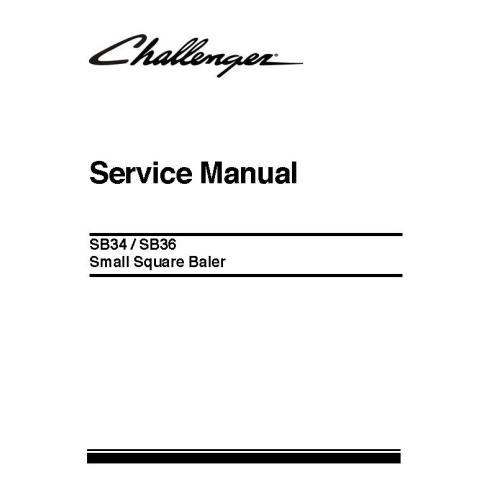 Challenger SB34, manual de servicio de la empacadora SB36 - Challenger manuales
