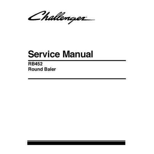 Manual de serviço da enfardadeira Challenger RB452 - Challenger manuais