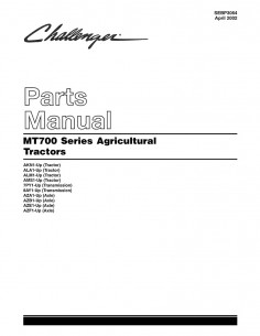 Challenger MT 700 series tractor parts manual - Challenger manuals