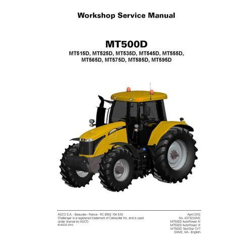 Challenger MT500D Series, MT515D, MT525D, MT535D, MT545D, MT555D, MT565D, MT575D, MT585D, MT595D manual de serviço de oficina...