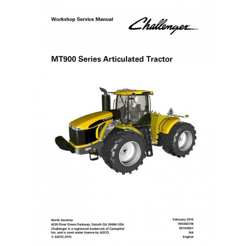 Workshop service manual for Challenger MT900 Series, MT955E, MT965E, MT975E tractor, PDF-Challenger