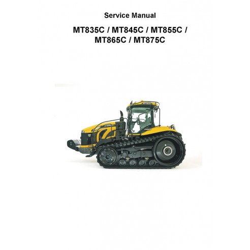 Manual de serviço do trator Challenger MT835C, MT845C, MT855C, MT865C, MT875C - Challenger manuais