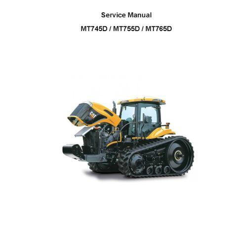 Manuel d'entretien du tracteur Challenger MT745D, MT755D, MT765D - Challenger manuels