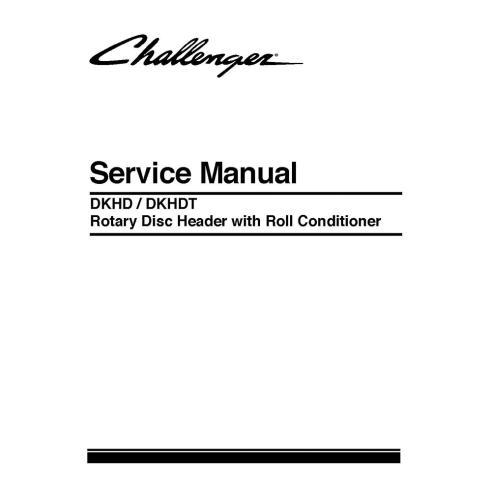 Service manual for Challenger DKHD / DKHDT Rotary Disc header, PDF-Challenger