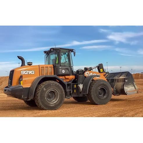 Manual de servicio del cargador de ruedas Case 821G, 921G - Case manuales