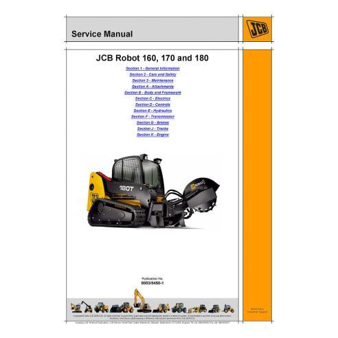 Service manual for JCB Robot 160, 170 and 180 skid loader, PDF-JCB