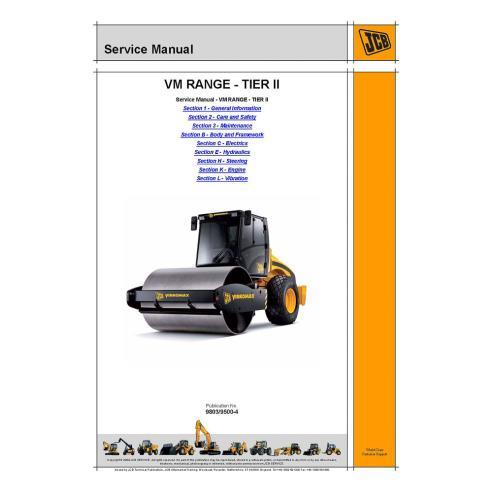 Service manual for JCB VM RANGE - TIER II soil compactor, PDF-JCB