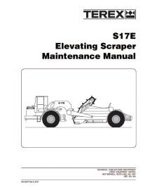 Maintenance manual for Terex S17E scraper, PDF-Terex