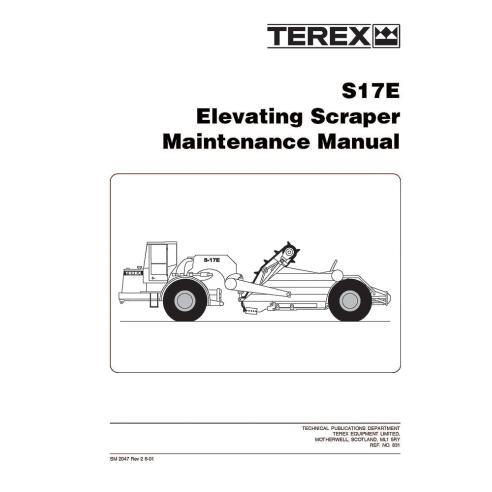 Manual de mantenimiento del raspador Terex S17E - Terex manuales